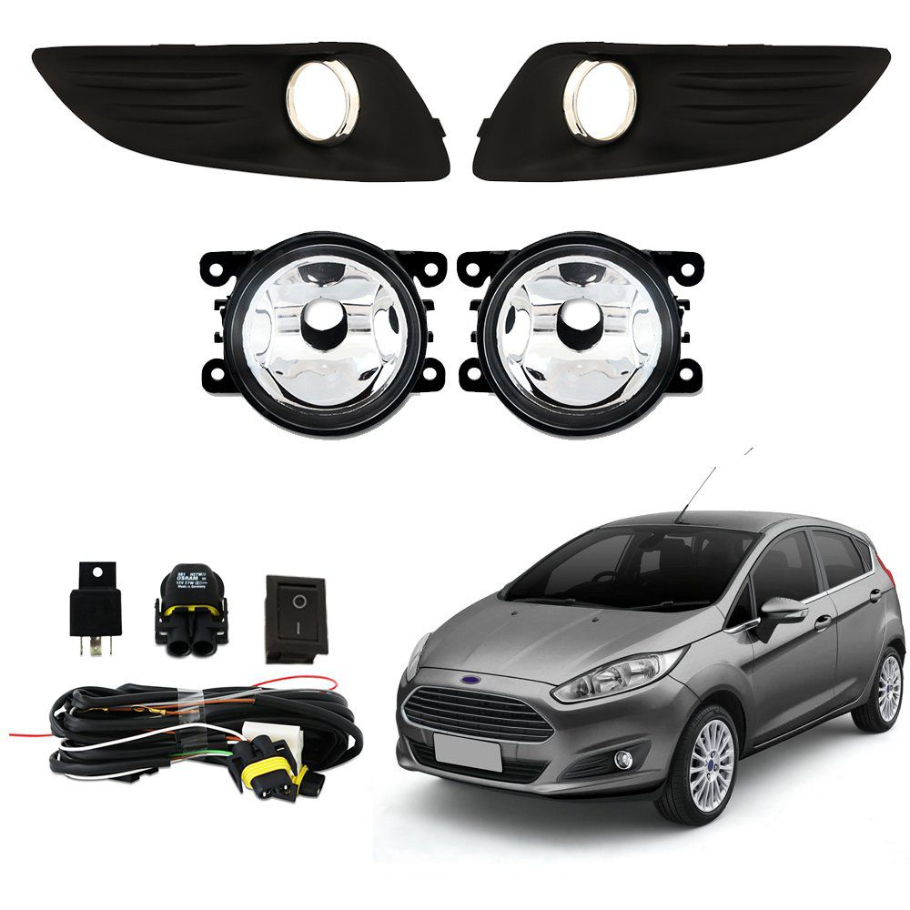 Farol de Milha – New Fiesta Hatch e Fiesta Sedan – Modelo Original – 2013 14 15 16 2017 - Marca Inovway  - Artmilhas