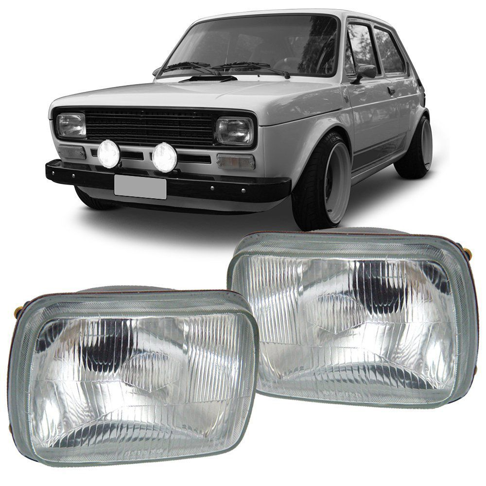 Farol Fiat 147 76 77 78 79 80 Lente de Vidro