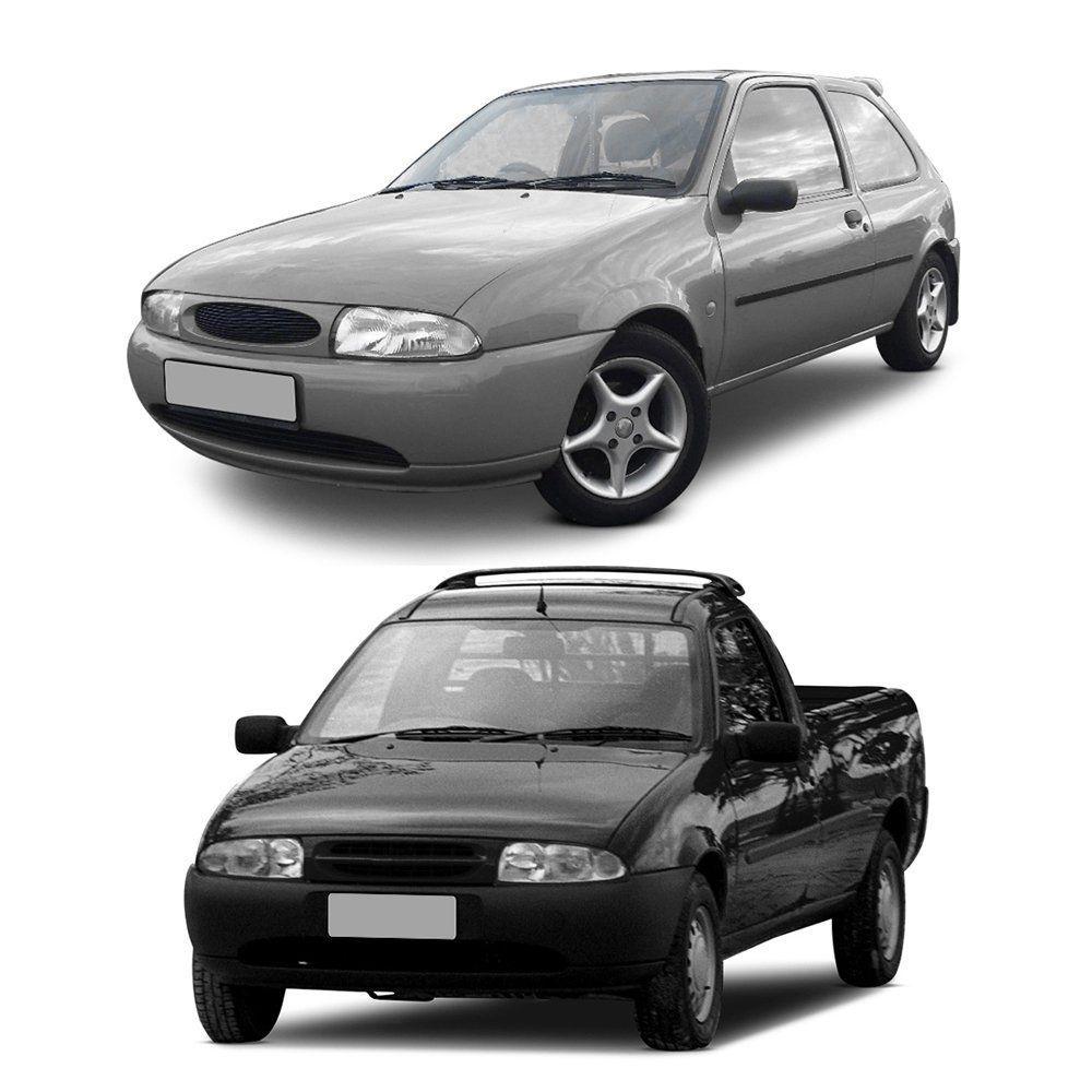 Farol Fiesta e Courier de Vidro com Lâmpadas T10 13 LEDS – Modelo Original – 96 97 98 99 - Marca INOV9