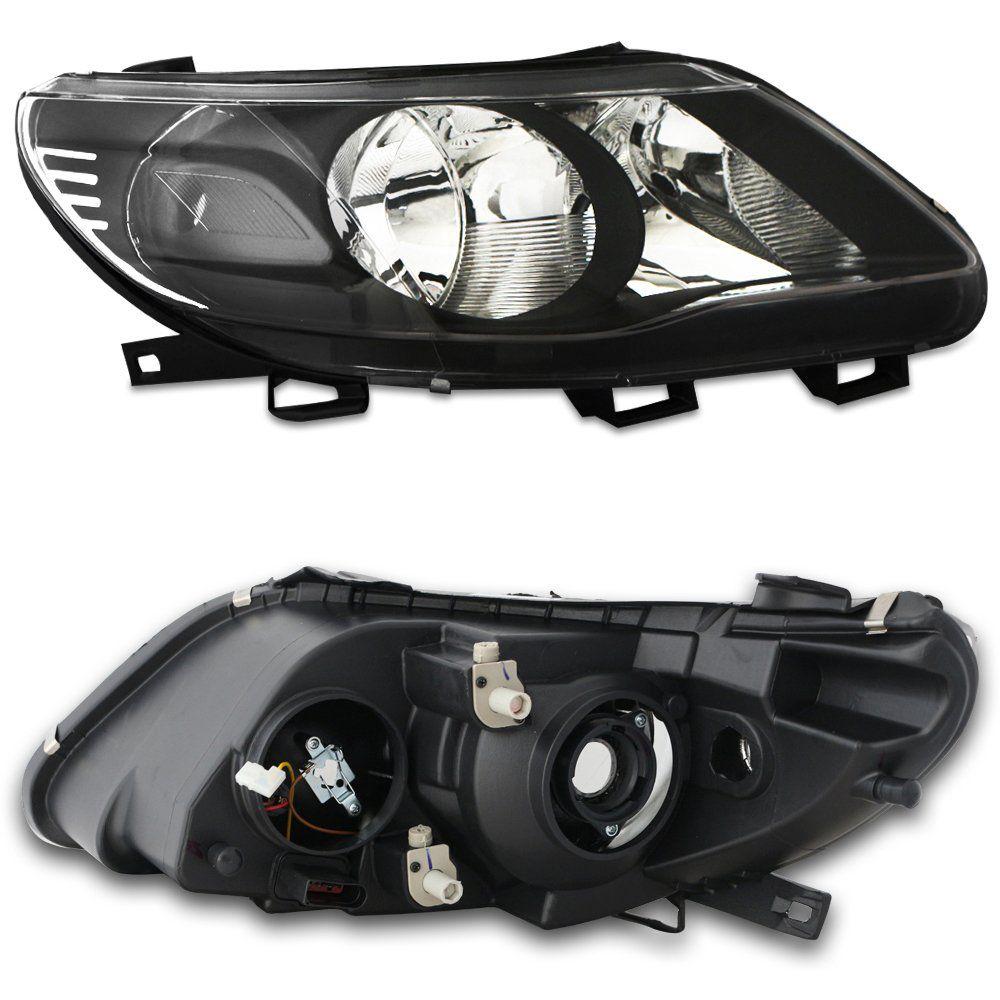 Farol Gol G5, Saveiro e Voyage Máscara Negra com Lâmpadas T10 13 LEDS – Modelo Esportivo – 09 10 11 12 - Marca INOV9