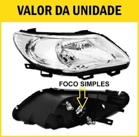 Farol Gol G5 Saveiro Voyage 09 10 11 12 13 Máscara Negra Foco Simples