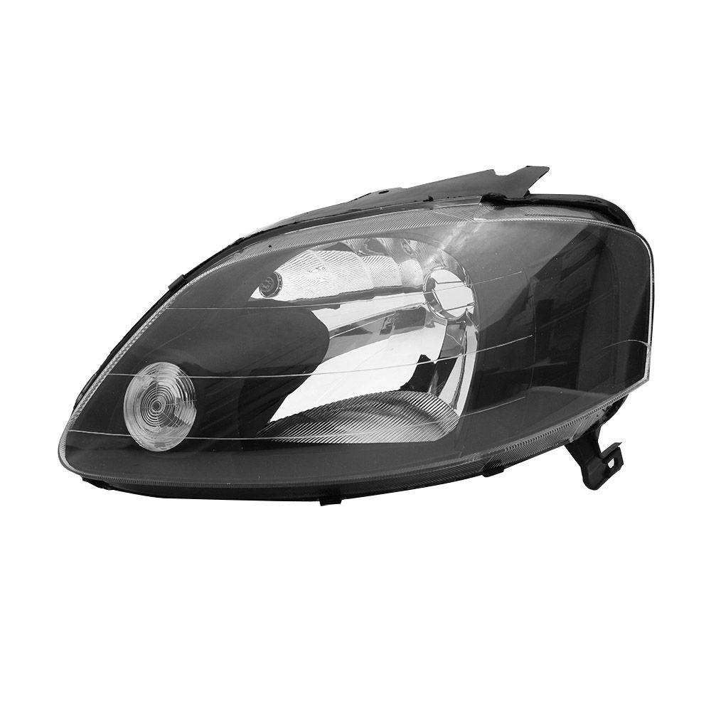 Farol Modelo CIBIE – Fox, Crossfox e Spacefox – Preto / Máscara Negra - Modelo Esportivo / Tuning – 03 04 05 06 07 08 09 – Marca Inov9  - Artmilhas
