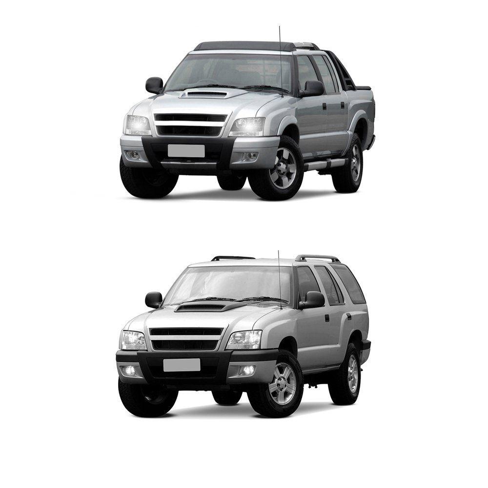 Farol Pick-up S10 e Blazer Pisca âmbar com Lâmpadas T10 13 LEDS – Modelo Original – 01 02 03 04 05 06 07 08 09 10 - Marca INOV9