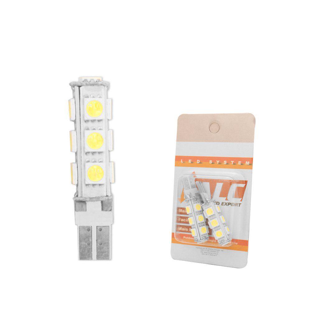 Farol Tempra Cromado de Vidro com Lâmpadas T10 13 LEDS – Modelo Original – 91 92 93 94 95 - Marca INOV9