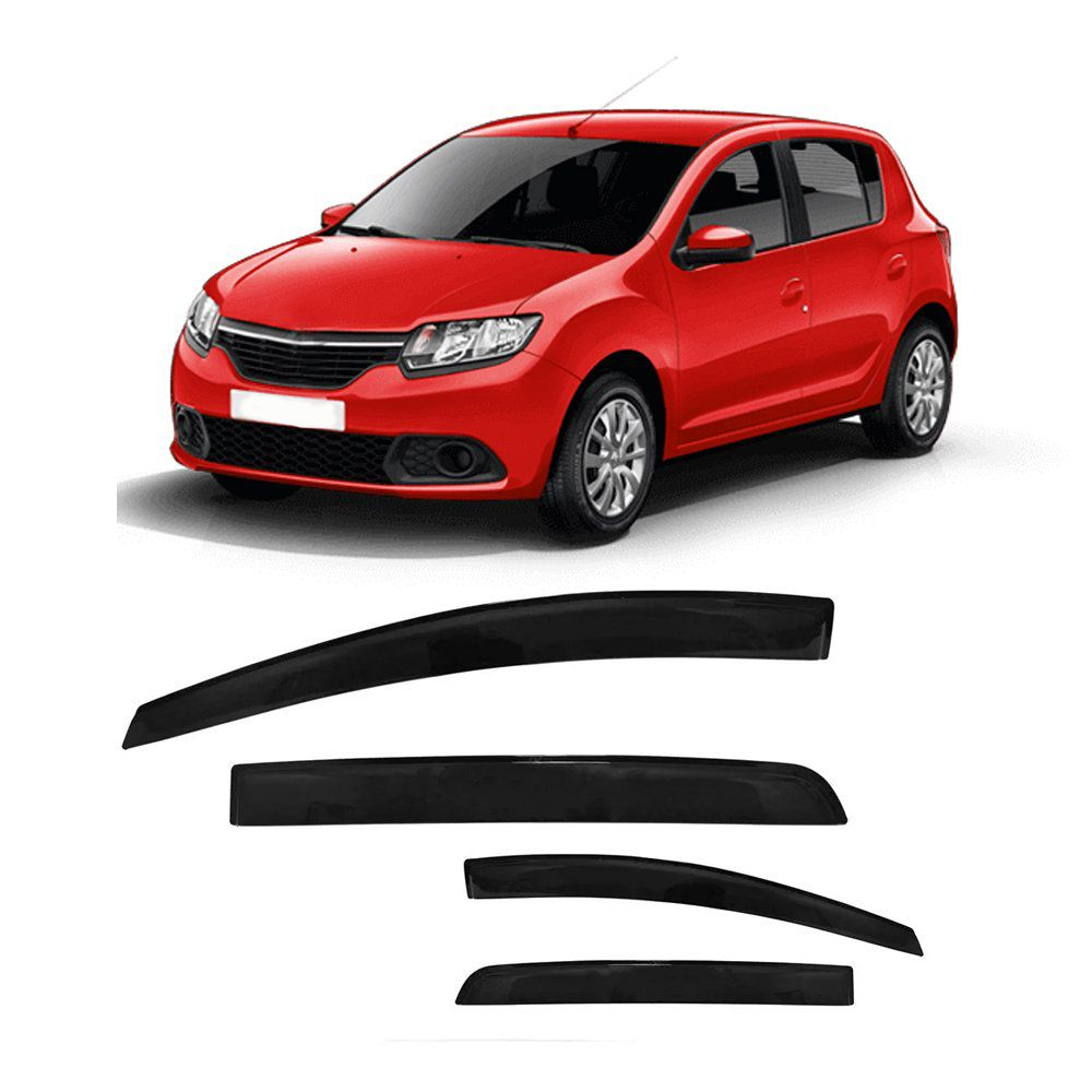Jg Calha Chuva Renault Sandero 2014 2015 4 Portas Fumê #2205  - Artmilhas
