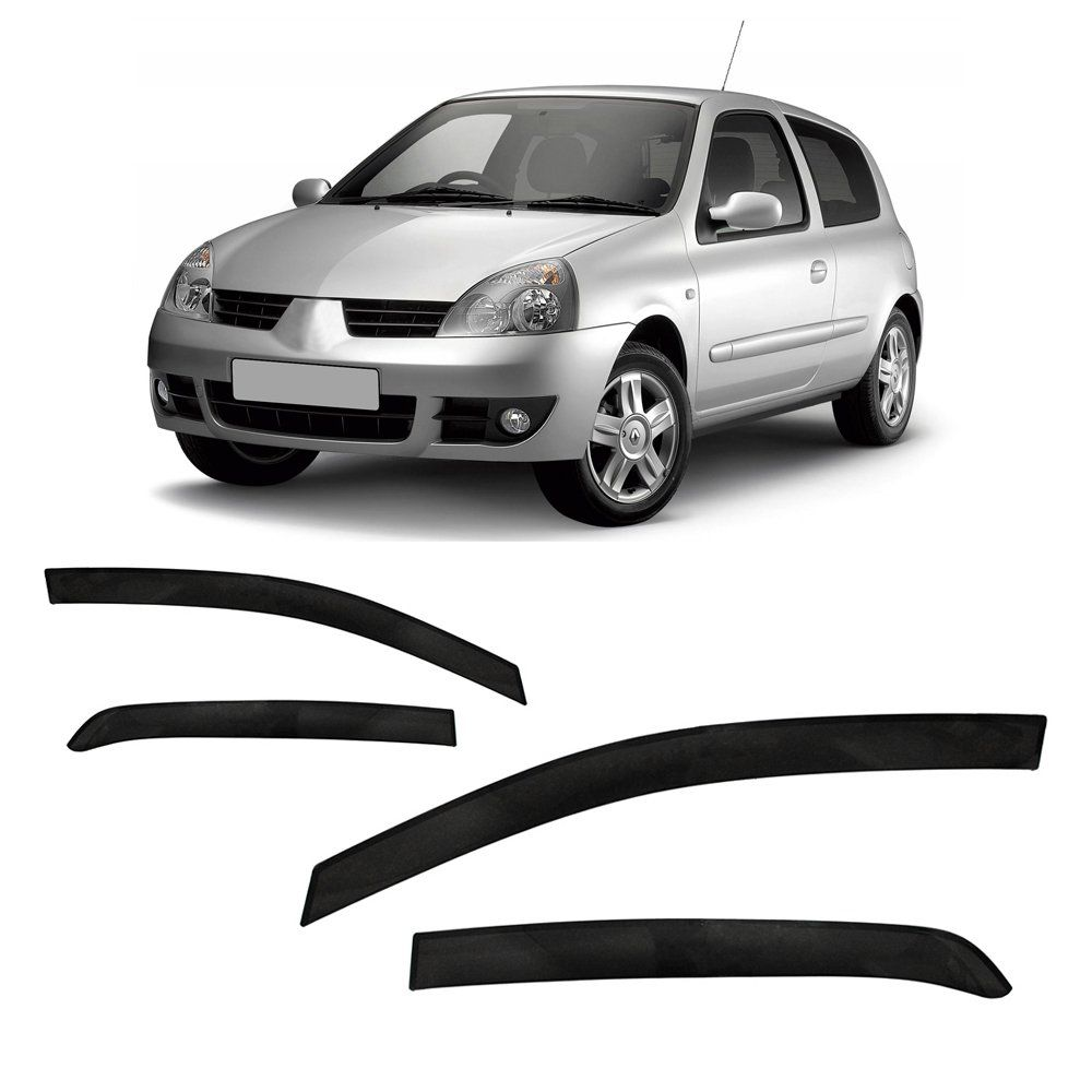 Jogo Calha Clio Hatch E Sedan 2000 À 2013 2014 4p Fumê #2200  - Artmilhas