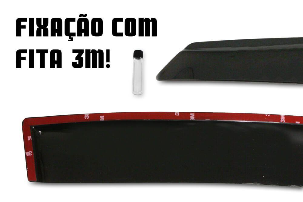 Calha de Chuva -  Monza - Modelo Preto / Fumê - 2 Portas - 82 83 84 85 876 87 88 89 90 91 92 93 94 95 96 - Marca Ibrasa  - Artmilhas