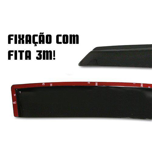 Calha de Chuva New Civic SLIM 4 Portas – Preto Sem Transparência – 07 08 09 10 11 – Marca Ibrasa   - Artmilhas