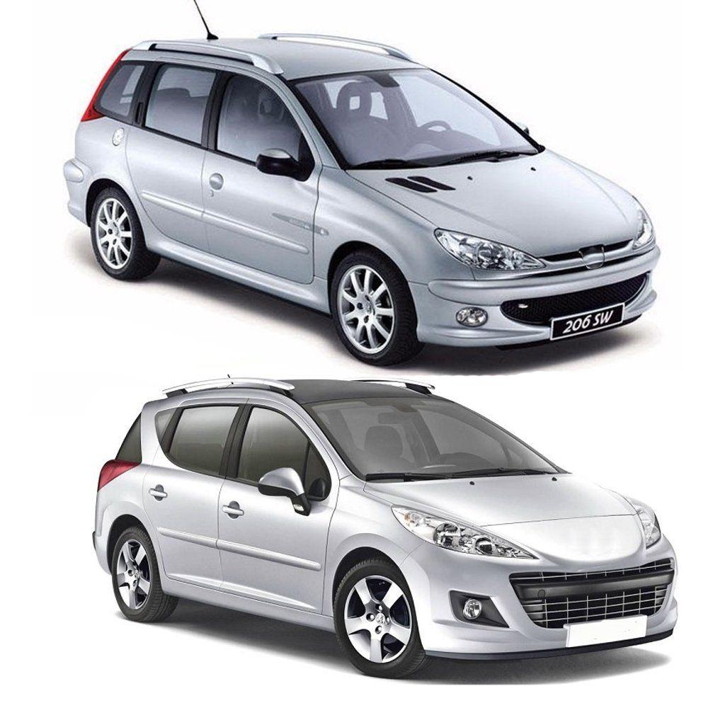 Jogo Calha Peugeot 206 Sw Escapade 207 2000 A 2013 Fumê#2199  - Artmilhas