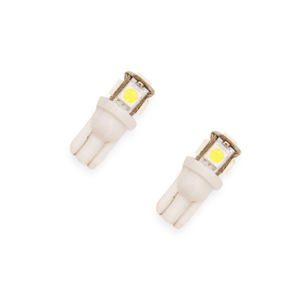 Kit 20 Lâmpadas T10 5 LEDS  – Modelo Pingo/Pingão 360º