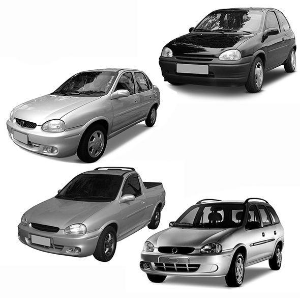 Kit Farol de Milha com LED Corsa, Corsa Classic, Corsa Sedan e Pickup Corsa Lente de Vidro 00 01 02 03 04 05 06 07 08 09 10 Marca Inovway