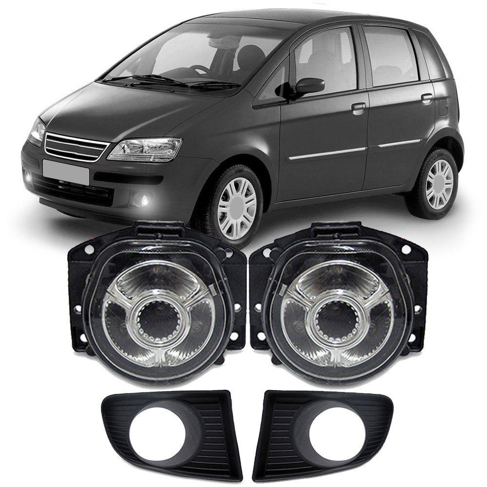 Par de Milhas Com LED Fiat Idea 06 07 08 09 10 Com Moldura Marca Inovway  - Artmilhas