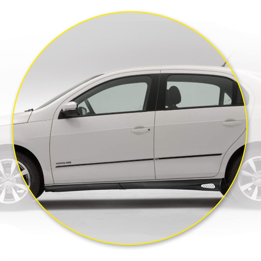Kit Spoiler Lateral Celta, Prisma, Audi A3 e Citroen C3 4 portas – Produto bi-partido Preto com Tela air point – 98 99 00 01 02 03 04 05 06 07 08 09 10 11 12 - Marca Inovway   - Artmilhas