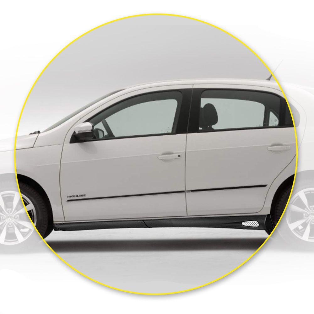 Spoiler Lateral Civic 01 02 03 05 06 07 4 Portas Cor Preta Bi-Partido Marca Inovway  - Artmilhas