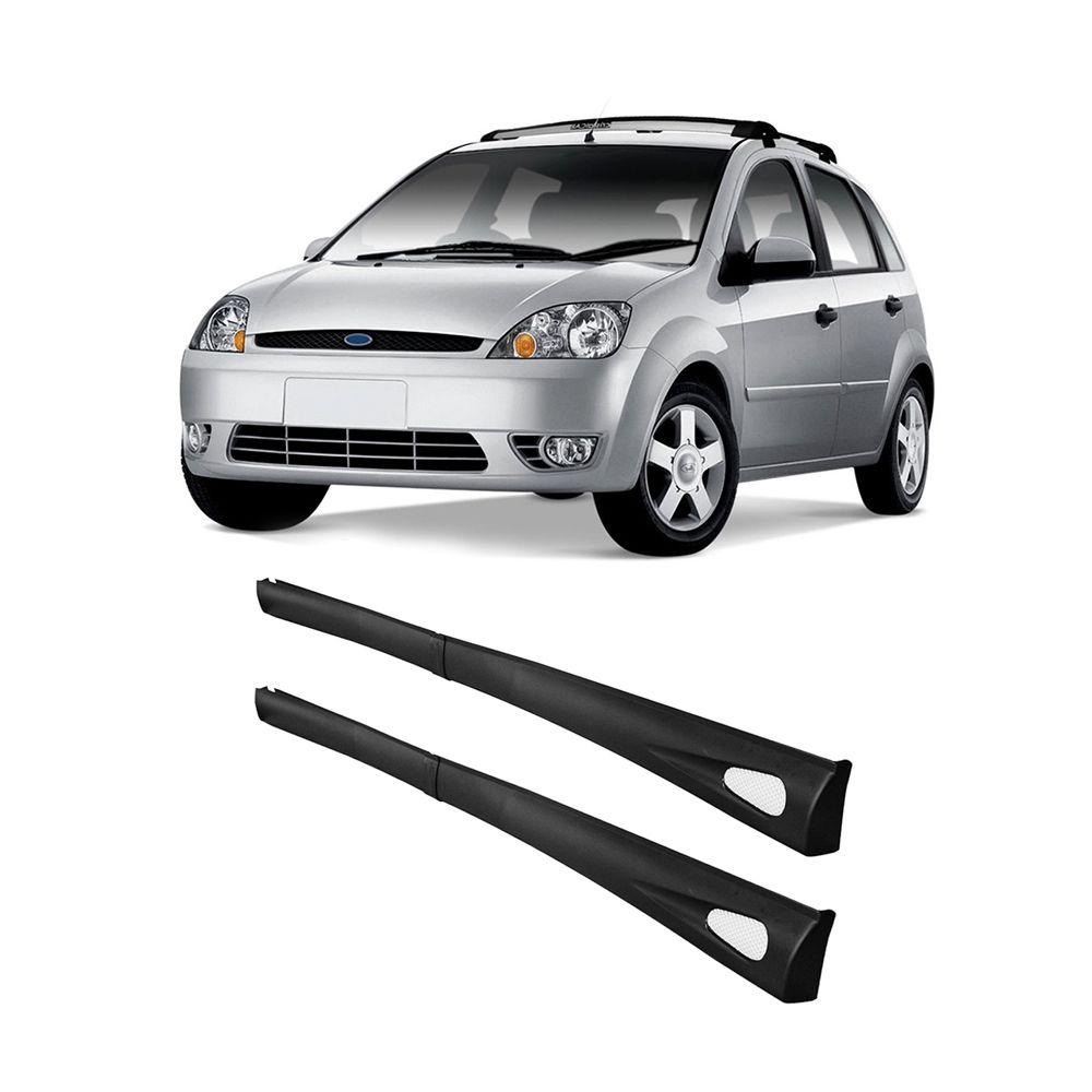 Spoiler Lateral Fiesta Hatch 96 97 98 99 00 01 02 4 Portas Cor Preta Bi-Partido
