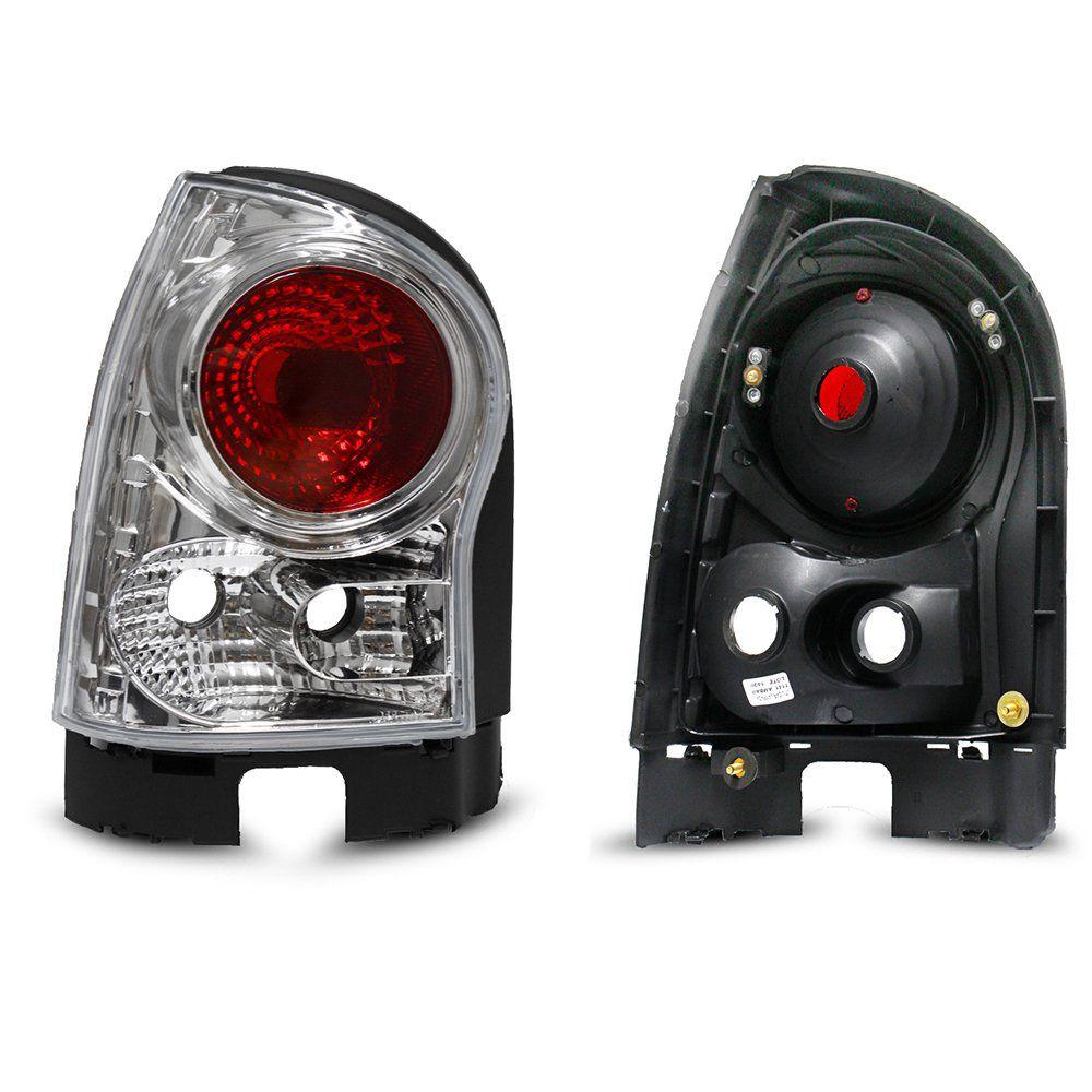 Lanterna Traseirar Gol G4 Modelo Esportivo Tuning Modelo Cristal Altezza 06 07 08 09 10 11 12 13 Marca Inovox  - Artmilhas