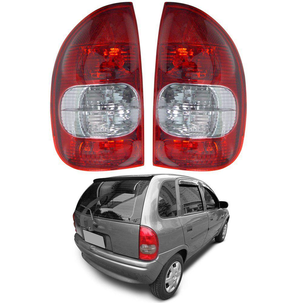 Lanterna Traseira Corsa Hatch Pick-up Wagon 96 97 98 99 00 01 02 03 Com Ré Fumê
