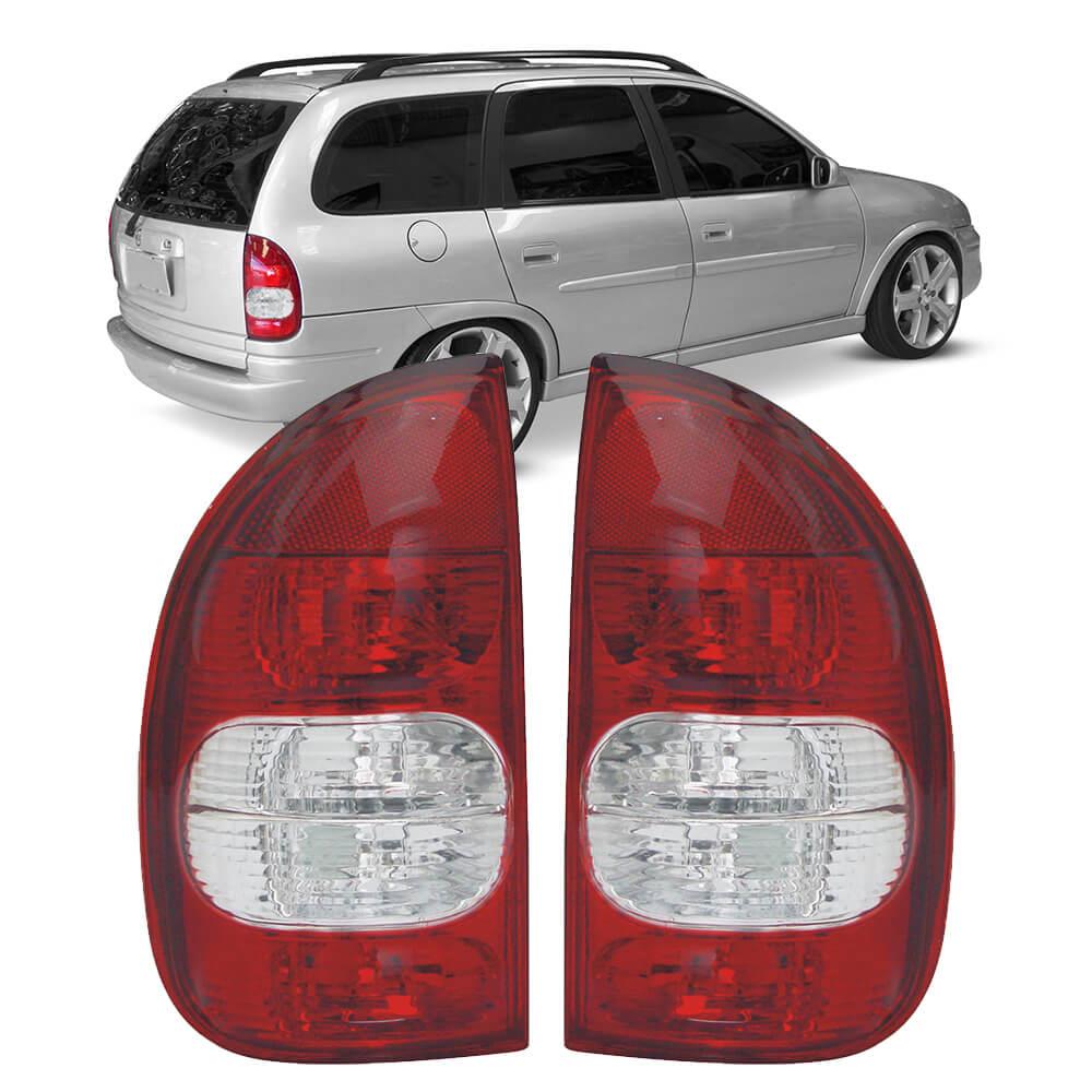 Lanterna Traseira Corsa Hatch Pick-up Wagon 94 95 96 97 98 99 00 01 02 03 Com Ré Cristal