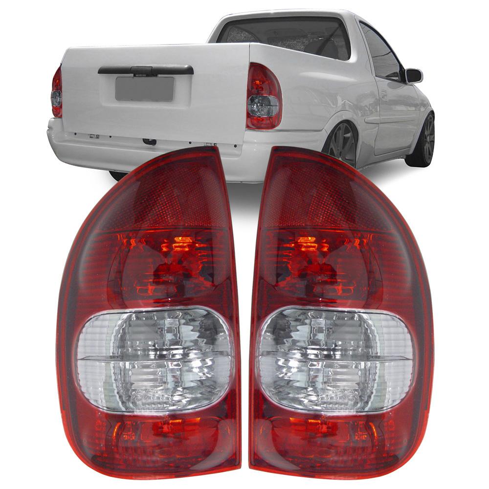 Lanterna Traseira Corsa Hatch Pick-up Wagon 94 95 96 97 98 99 00 01 02 03 Com Ré Fumê