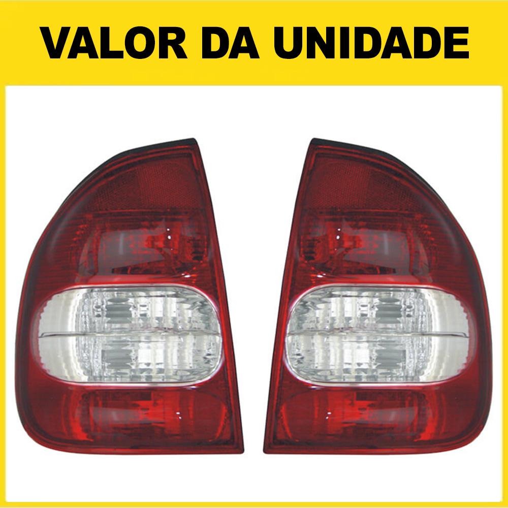 Lanterna Traseira Corsa Sedan Classic 02 03 04 05 06 07 08 09 10 Com Ré Cristal
