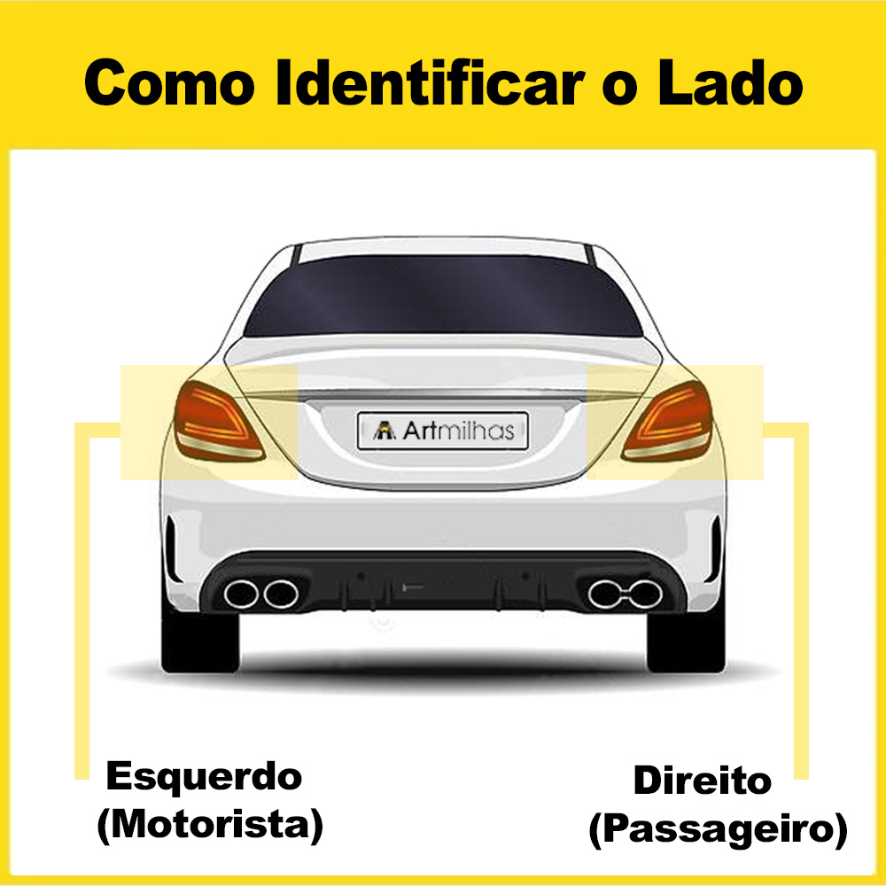 Lanterna Traseira Golf 98 99 00 01 02 03 04 05 06 Modelo RED
