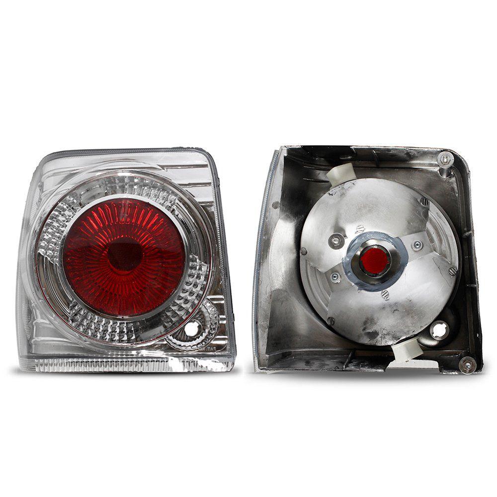 Lanterna Traseira Golf com Lâmpadas T10 5 LEDS e Lentes de Farol em Vidro – Modelo Esportivo – 99 00 01 02 03 04 05 06 – Marca INOV9