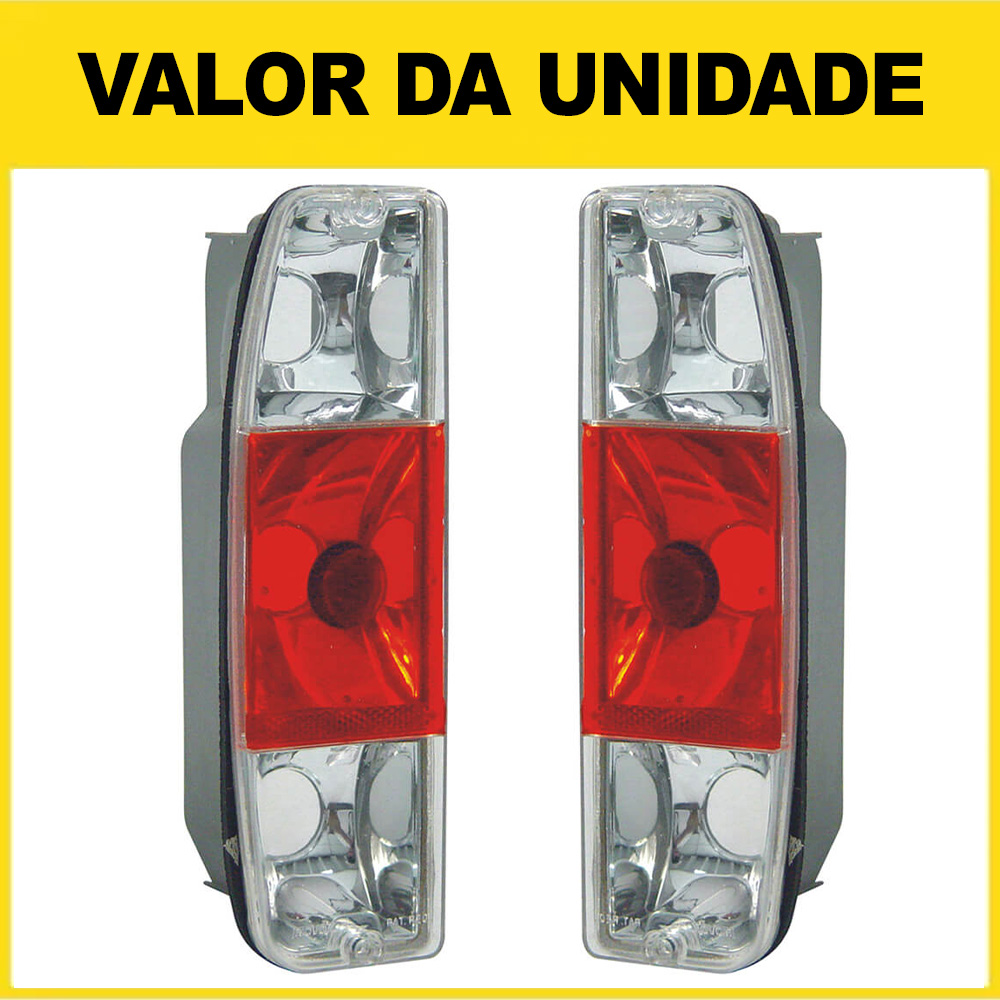 Lanterna Traseira Pampa 85 86 87 88 89 90 91 92 93 94 95 96 97 F1000 85 86 87 88 89 90 91 92 Cristal