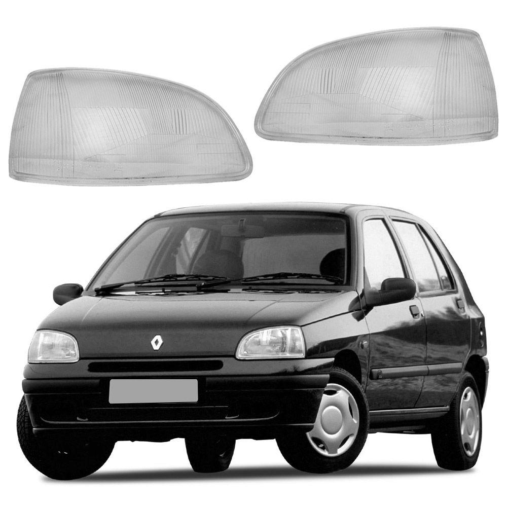 Lente de Vidro para Farol Renault Clio 93 94 95 96 97 98 Marca Inovway