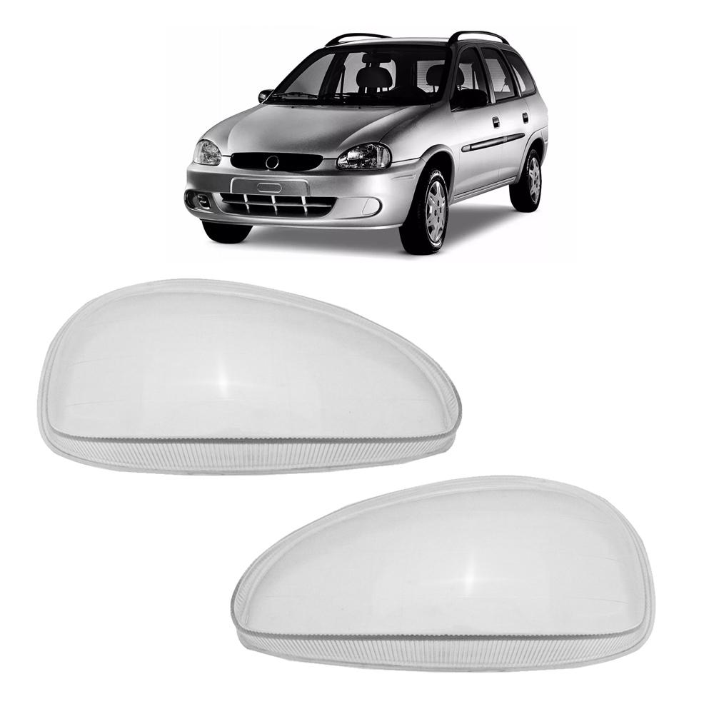 Lente Farol Corsa Wind Hatch Sedan Wagon Pick-up 94 95 96 97 98 99 00 01 02 Corsa Classic 03 04 05 06 07 08 09 10 Vidro Lente Lisa