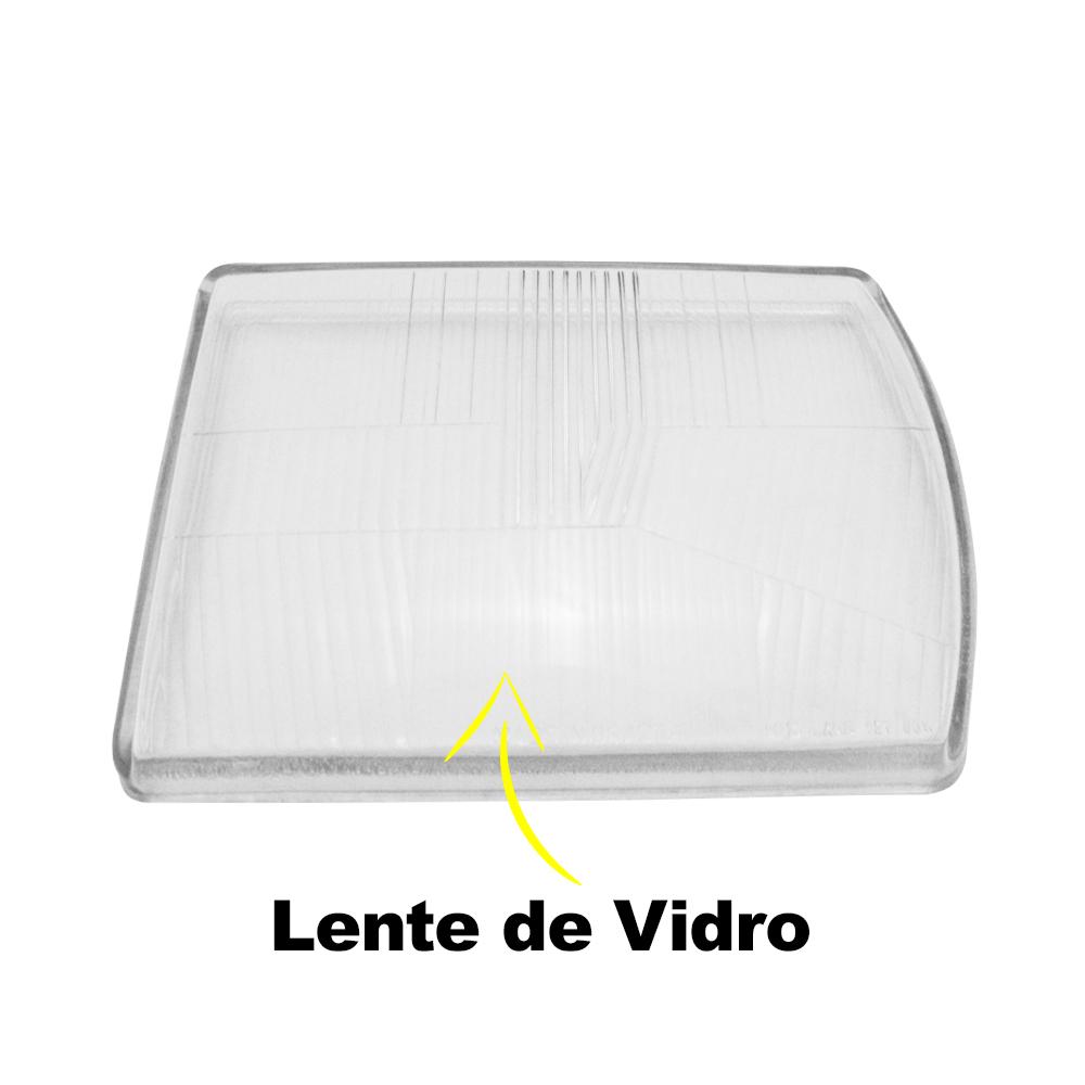 Lente Farol Gol BX Saveiro S 80 81 82 83 84 Vidro
