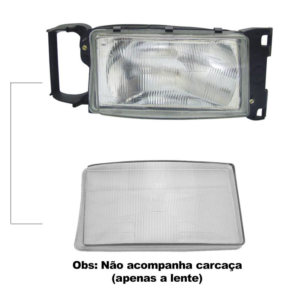 Lente Farol Scania 124 e Série 4 98 99 00 01 02 03 04 05 06 Vidro