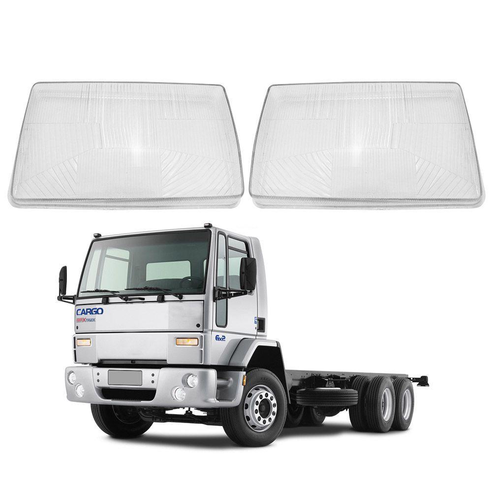 Lente Farol Ford Cargo 91 92 93 94 95 96 97 98 99 00 01 02 Vidro Marca Inovway