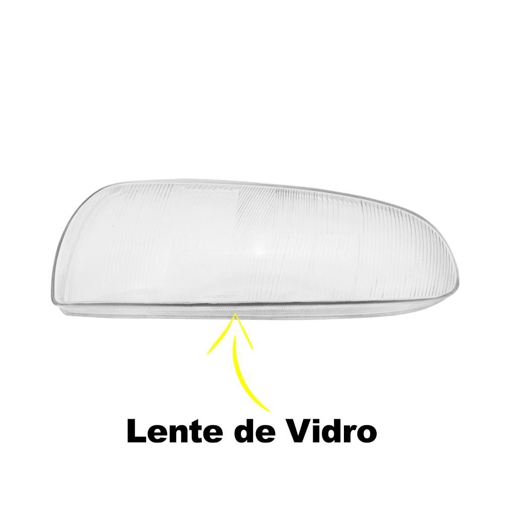 Lentes Farol Fiesta Courier 96 97 98 99 00 Vidro
