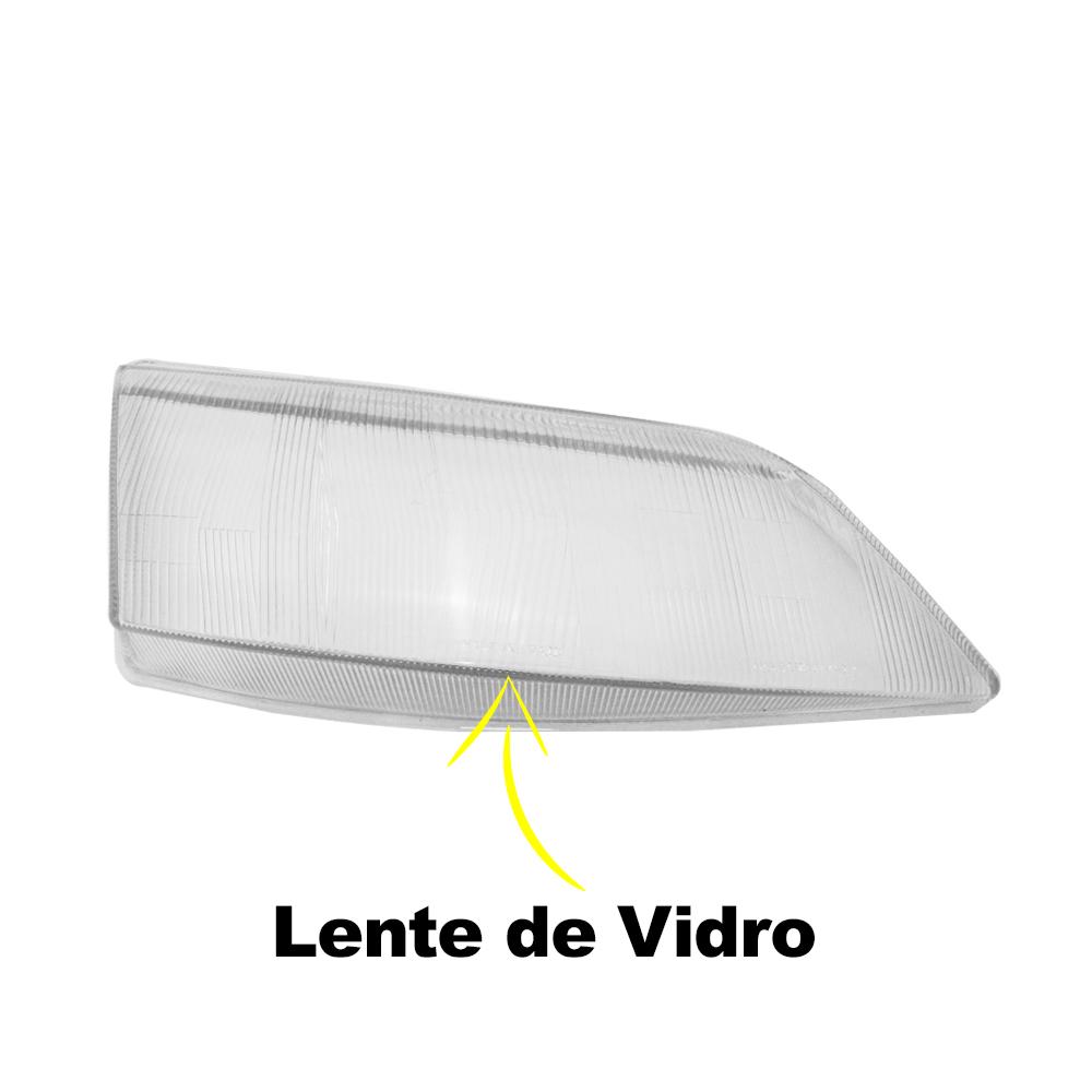 Lentes Farol Vectra 97 98 99 00 01 02 Vidro