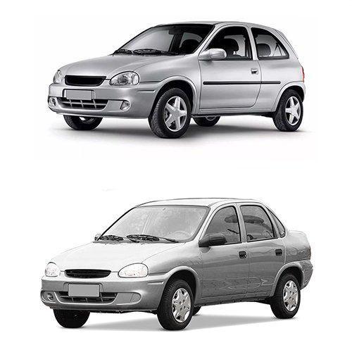 Par Farol Corsa Hatch Wagon Pick-up Sedan 94 95 96 97 98 99 00 01 02 03 Corsa Classic 03 04 05 06 07 08 09 10 Lente de Vidro Pisca Âmbar Carcaça Cinza