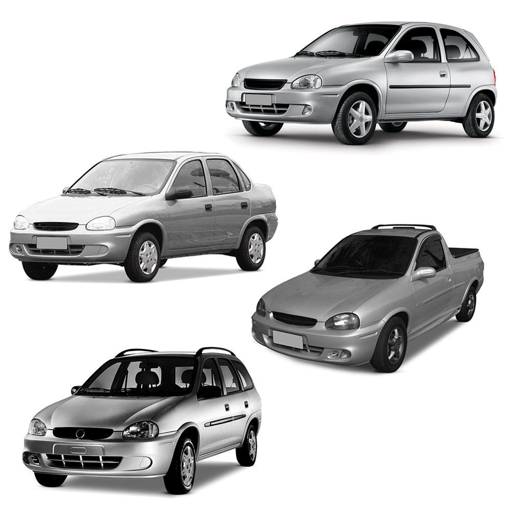 Par Farol Corsa Hatch Wind Wagon Pick-up Sedan 94 95 96 97 98 99 00 01 02 03 Corsa Classic 03 04 05 06 07 08 09 10 Foco Duplo Máscara Negra
