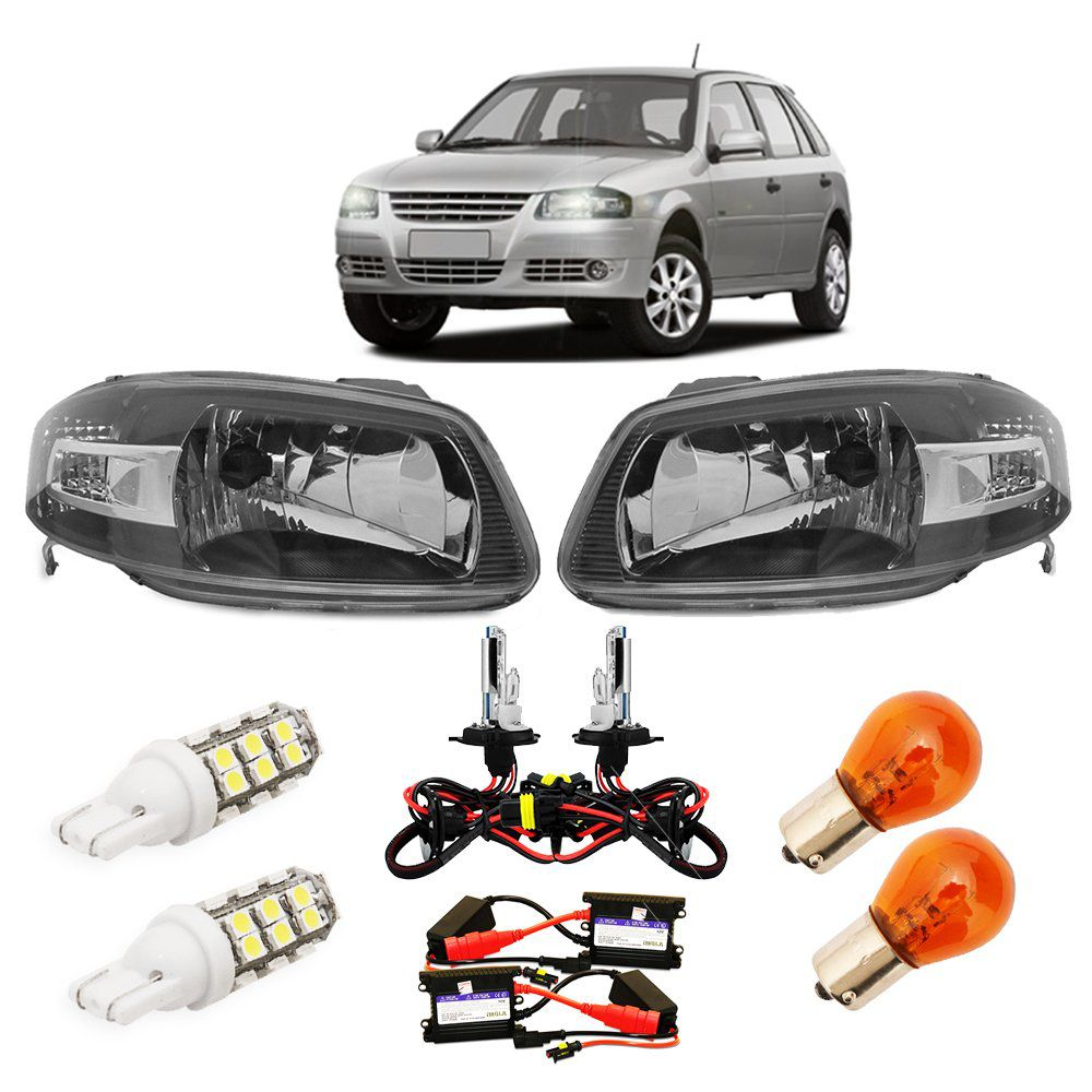 FAR GOL G4 KIT XENON 6K E LAMPADAS