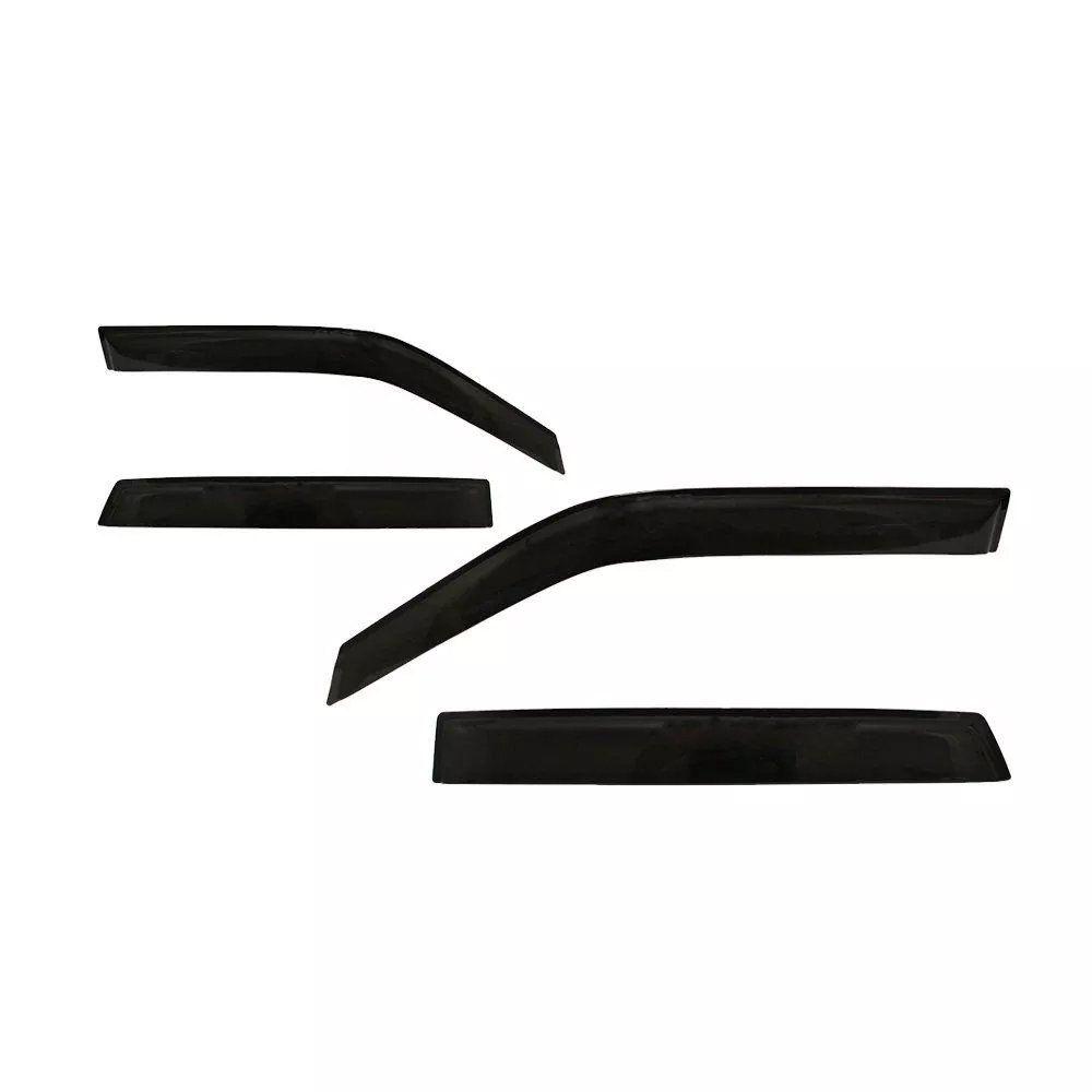 Par de Faróis Uno Vivance e Fiorino Máscara Negra Dianteiros com Jogo de Calhas 4 Portas – Modelo Esportivo – 10 11 12 13 14 15 – Marca INOV9   - Artmilhas
