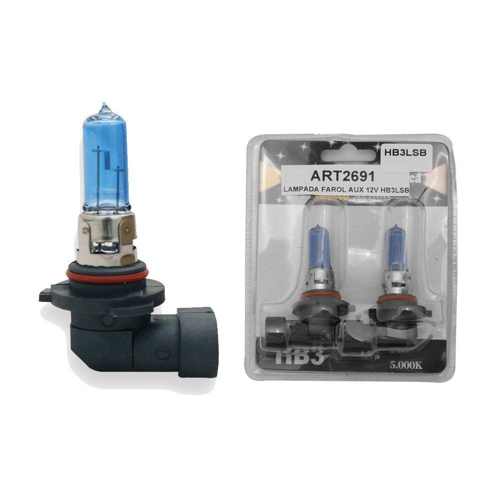 Par Lâmpada Super Branca Efeito Xênon HB3 8.500k 12v 55 watts