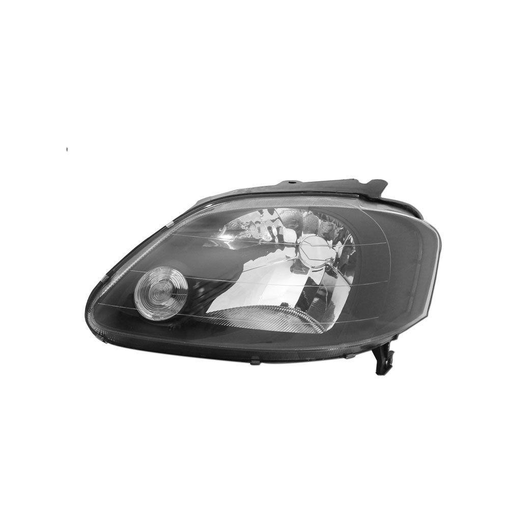 Farol Fox, Spacefox, Crossfox Máscara Negra Arteb com Lâmpadas Halógenas H4 – Encaixe Arteb – 03 04 05 06 07 08 09  - Marca INOV9