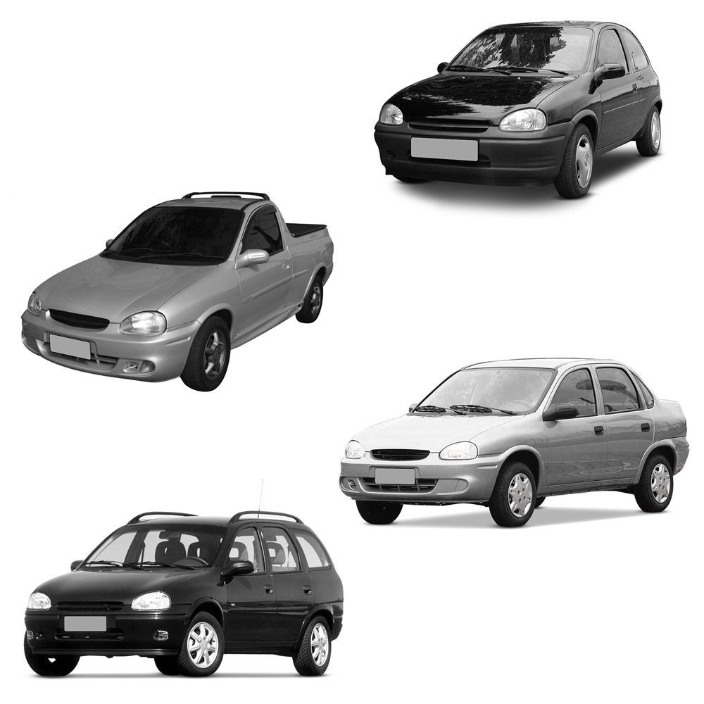 Par Farol Corsa Hatch Wagon Pick-up Sedan 94 95 96 97 98 99 00 01 02 03 Corsa Classic 03 04 05 06 07 08 09 10 Lente de Acrílico Lente Lisa Pisca Âmbar