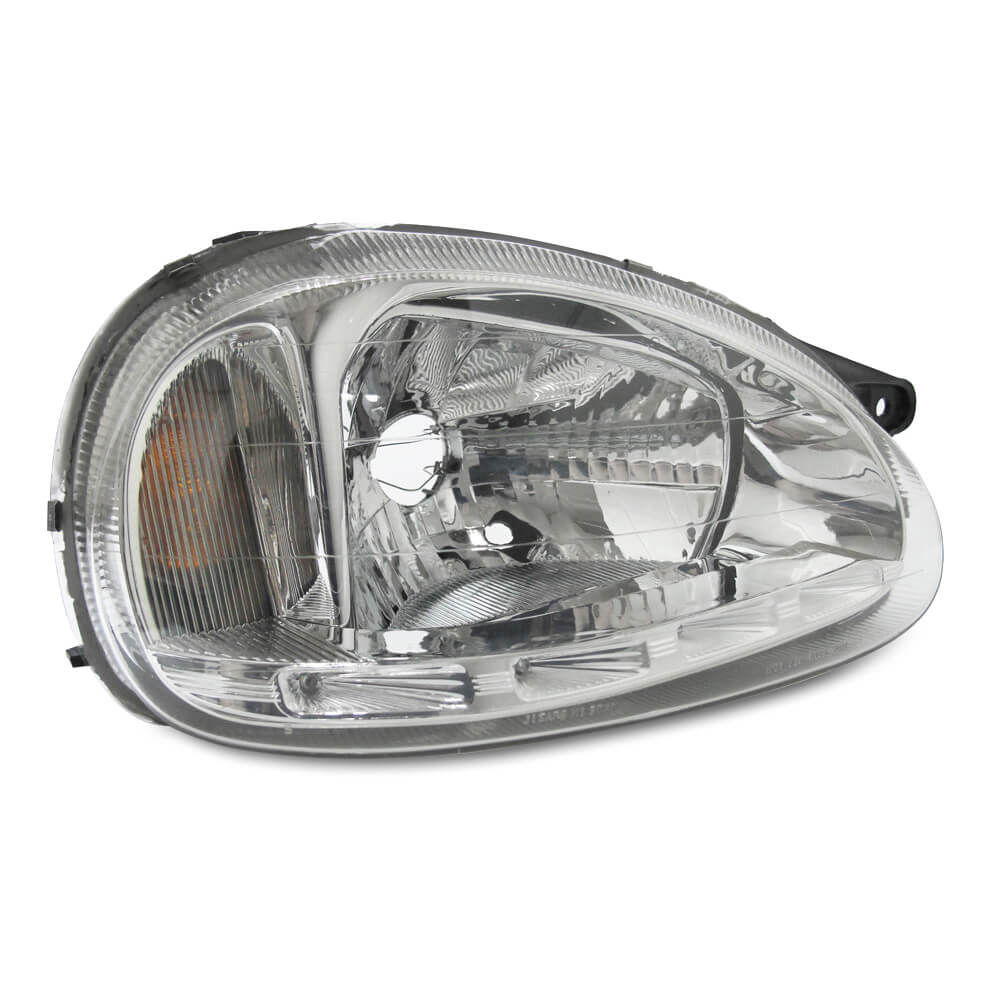 Par Farol Corsa Hatch Wagon Pick-up Sedan 94 95 96 97 98 99 00 01 02 03 Corsa Classic 03 04 05 06 07 08 09 10 Máscara Cromada Com LED