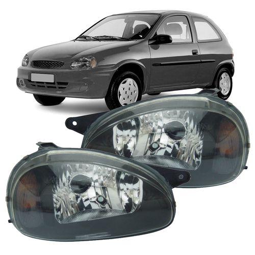 Par Farol Corsa Wind Hatch Wagon Pick-up Sedan 94 95 96 97 98 99 00 01 02 03 Corsa Classic 03 04 05 06 07 08 09 10 Máscara Negra