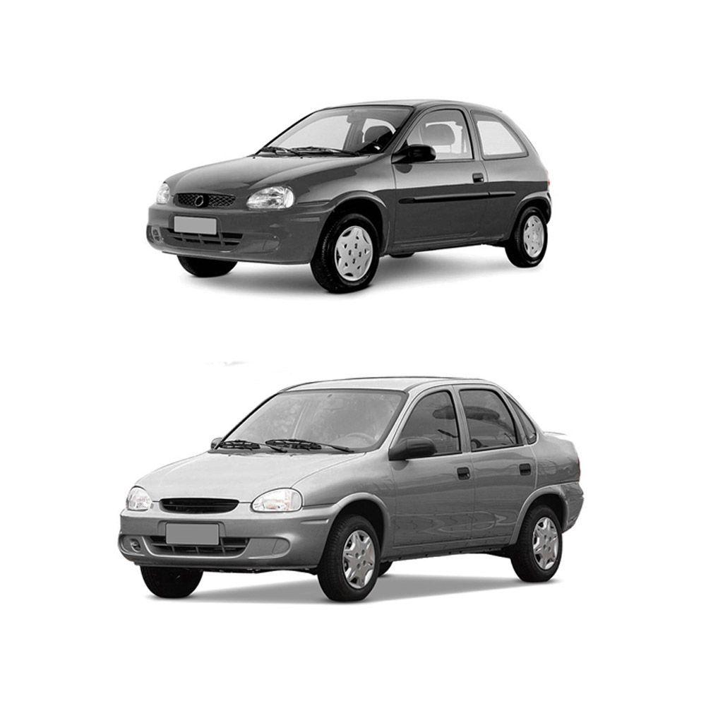 Par Farol Corsa Hatch Wagon Pick-up Sedan 94 95 96 97 98 99 00 01 02 03 Corsa Classic 03 04 05 06 07 08 09 10 Lente de Vidro Pisca Cristal Carcaça Cinza