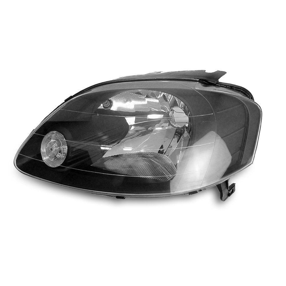 Farol Fox, Crossfox e Spacefox Máscara Negra Cibié com Lâmpadas T10 13 LEDS – Encaixe Cibié – 03 04 05 06 07 08 09 - Marca INOV9