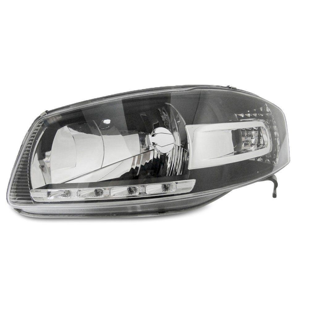 Farol Gol G4, Saveiro e Parati Máscara Negra com Lâmpadas T10 13 LEDS – Farol de LED – 06 07 08 09 10 - Marca INOV9