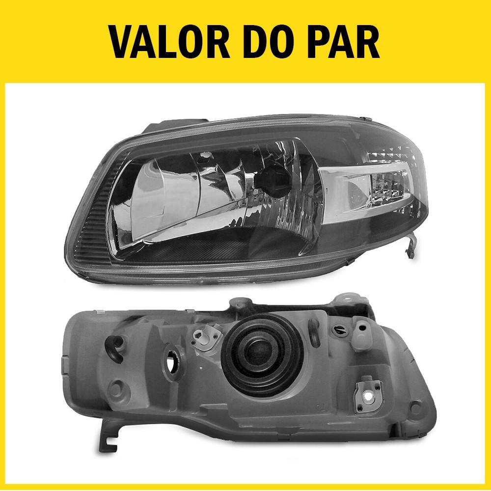 Par Farol Gol G4 Saveiro Parati 05 06 07 08 09 10 11 12 13 14 Máscara Negra