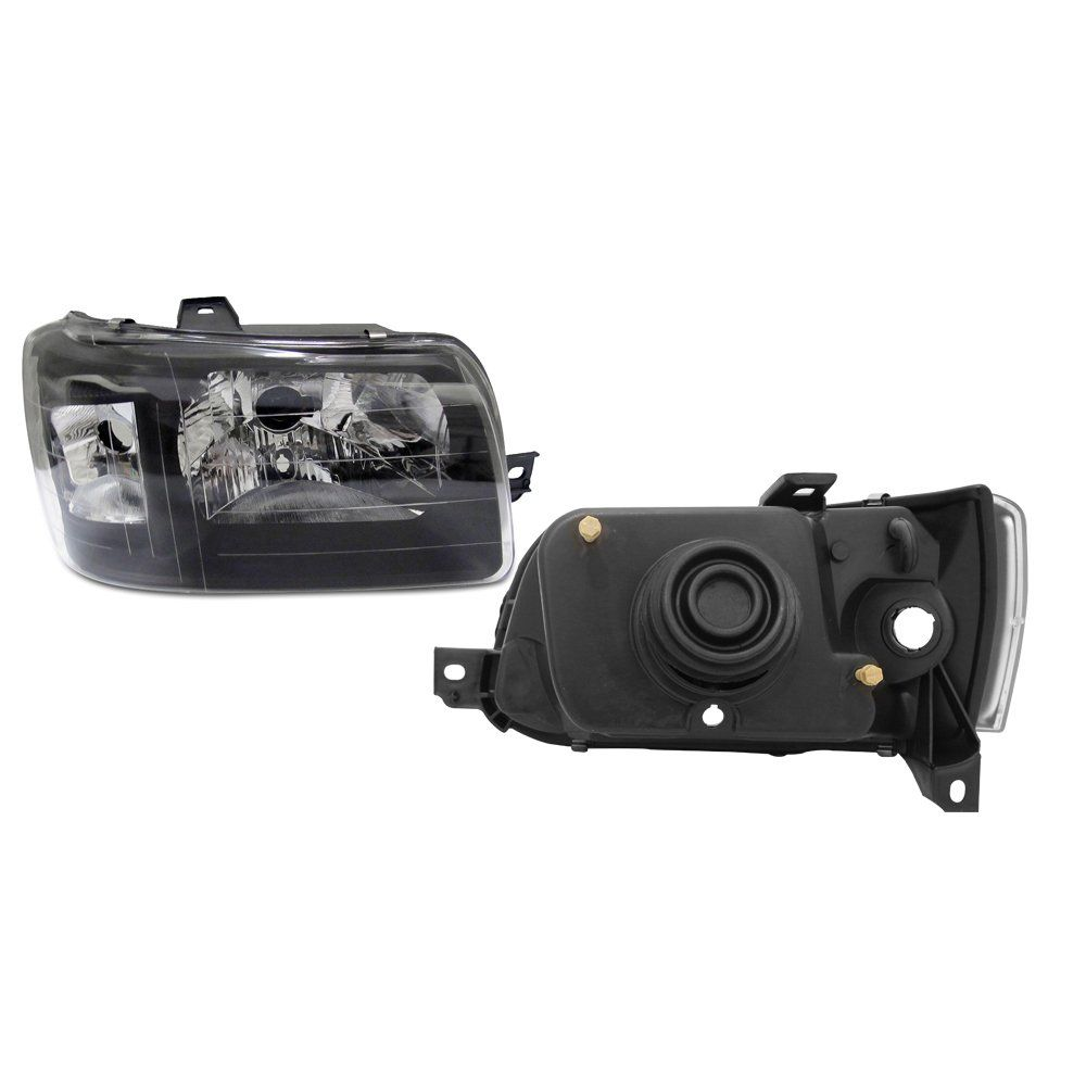 Farol Uno e Fiorino Máscara Negra  com Kit Xênon H4 6000K – Modelo Esportivo – 04 05 06 07 08 09 10 11 12 13 -  Marca INOV9  - Artmilhas