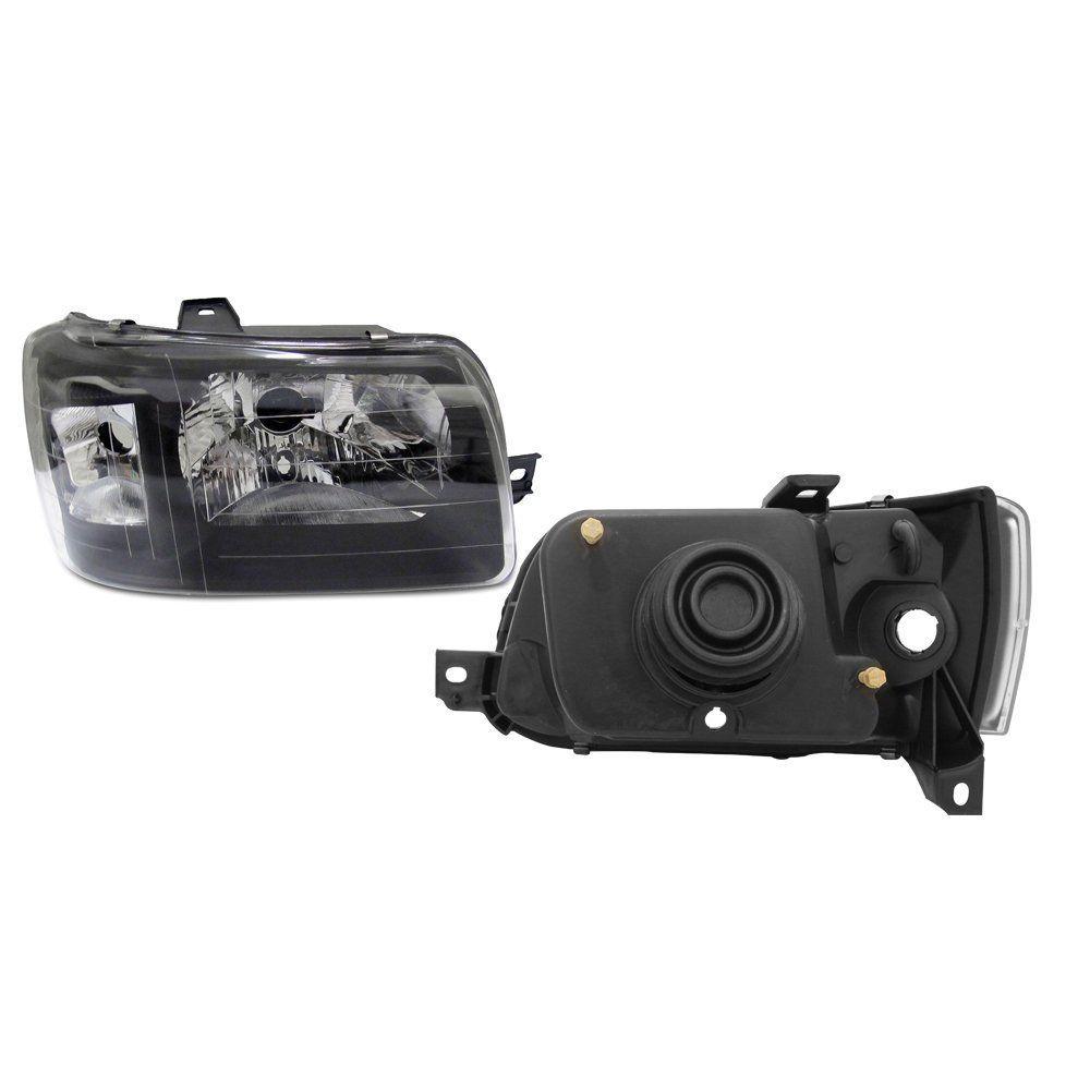 Farol Uno e Fiorino Máscara Negra  com Kit Xênon H4 6000K – Modelo Esportivo – 04 05 06 07 08 09 10 11 12 13 -  Marca INOV9