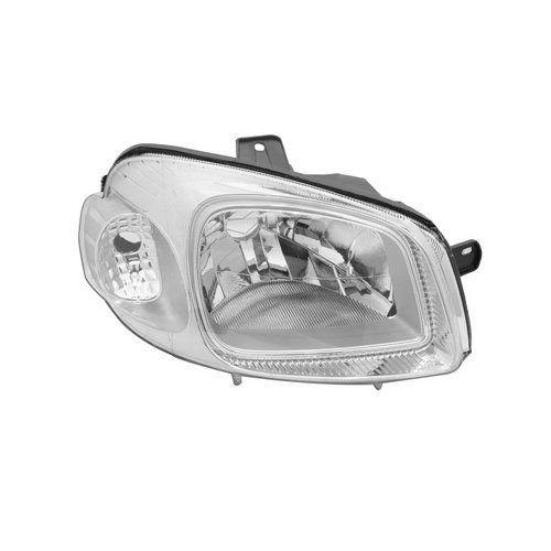 Farol Uno e Fiorino Máscara Cromada com Lâmpadas Super Brancas H4 – Modelo Original – 10 11 12 13 14 15 16 17 - Marca INOV9